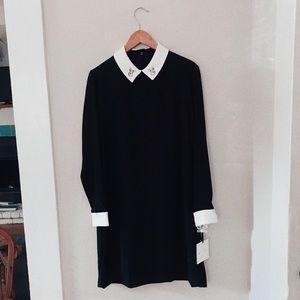 Victoria Beckham rabbit collared dress